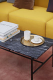 Hay Rebar Marble salontafel 80x49