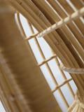 Cane-Line Nest Rattan fauteuil met leer cognac zitkussen indoor