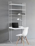 String Furniture Kast met tafel small, wit