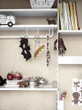 String Furniture Metal shelf high edge 58x30 1-pack
