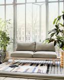 HKliving Outdoor Lounge Sofa 2-zits loungebank beige kussen