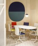 Arper Dizzie tafel H74 oval 182x100