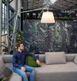 Artemide Tolomeo Mega Terra booglamp LED 3000k met snoerdimmer alu