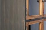 BePureHome Box vitrinekast metaal met houten deuren