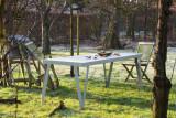 Functionals Lloyd tuinset tafel 230x80 + 2 eetbanken