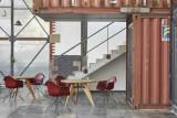 Vitra Eames DAR stoel zwart gepoedercoat onderstel
