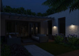 Philips Greenhouse wandlamp met zonnecel en bewegingssensor