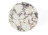 Menu Androgyne bijzettafel ivoor wit met marmeren tafelblad
