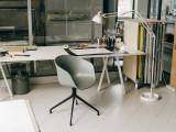 Hay Loop Stand 200 zwart eetkamerset + 6 AAC12 stoelen