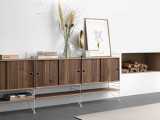 String Furniture Dressoir medium, zwart/walnoot