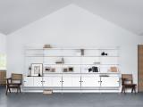 String Furniture Hoge kast small, wit