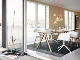 Muuto 70/70 tafel 225 eetkamerset + 6 Fiber wood stoelen