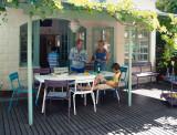 Fermob Luxembourg tuinset 80x80 tafel + 4 stoelen (armchair)