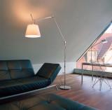 Artemide Tolomeo Mega Terra vloerlamp LED met toetsdimmer alu 3000K