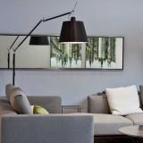 Artemide Tolomeo Mega Terra vloerlamp LED met toetsdimmer zwart