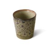 HKliving 70's Ceramic koffie mok set van 4 spring greens