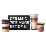 HKliving 70's Ceramic mokken set of 6