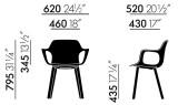 Vitra Hal Armchair Wood stoel naturel eiken onderstel