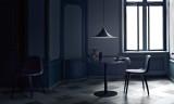 Gubi Gubi 3D HiRek stoel met zwart gebeitst onderstel