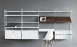 String Furniture Magazine Shelf Wood 78 x 30 cm