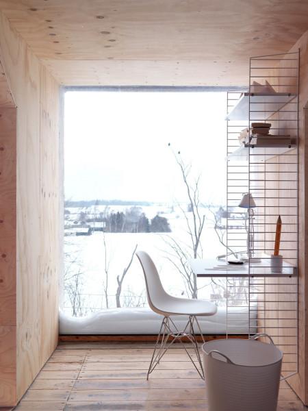 String Furniture Wandkast met tafel small, wit