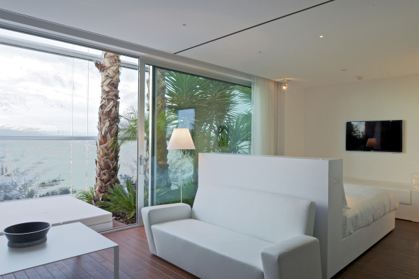 Luceplan Costanza vloerlamp met aan-/uitschakelaar aluminium