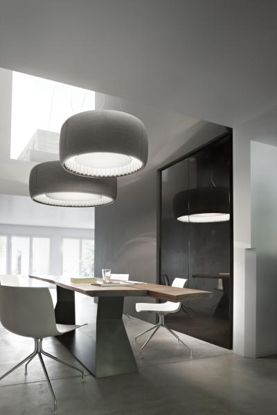 Luceplan Silenzio akoestische hanglamp 117cm LED 2700K