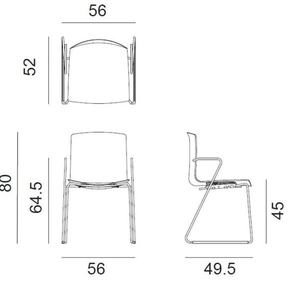 Arper Catifa 46 Sled stoel
