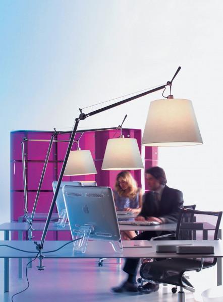 Artemide Tolomeo Mega Tavolo bureaulamp LED met snoerdimmer en tafelklem aluminium