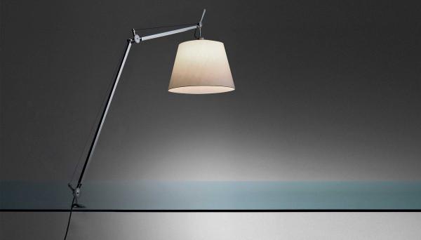 Artemide Tolomeo Mega Tavolo bureaulamp met dimmer en tafelklem zwart