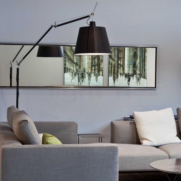Artemide Tolomeo Mega Terra vloerlamp LED met toetsdimmer zwart 3000K
