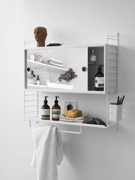 String Furniture Cabinet with mirror doors 78 x 20 x 37 cm