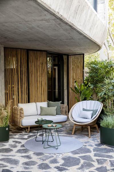 Cane-Line Nest Outdoor 2-zits loungebank