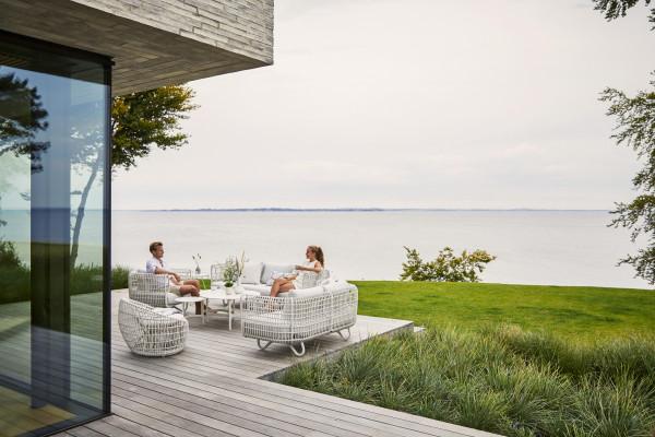 Cane-Line Nest Outdoor 3-zits loungebank