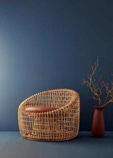 Cane-Line Nest Round Rattan fauteuil indoor