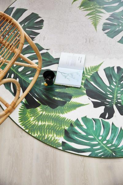 Tarkett Tweedekansje - Leaves Tropical vloerkleed vinyl 196