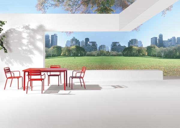 Emu Star tuinset 70x70 tafel + 4 stoelen (chair)