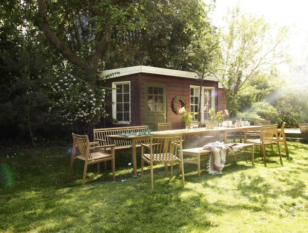 FDB Møbler M11 Sammen tuinbank met rugleuning