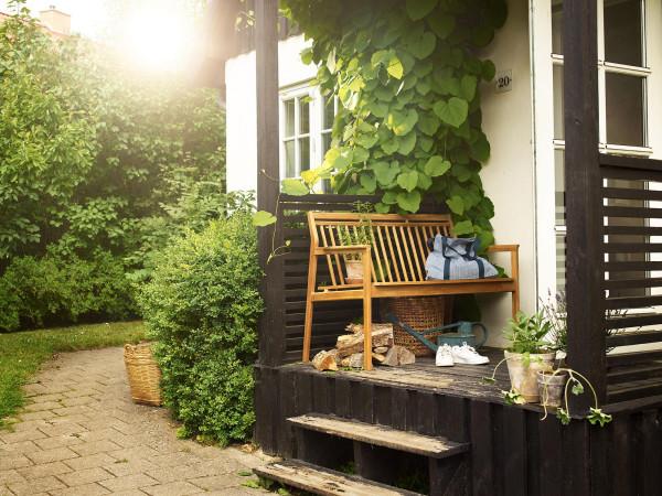 FDB Møbler M12 Sammen tuinbank met rugleuning