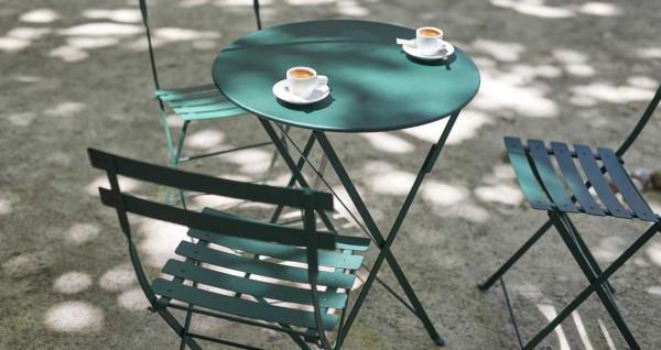 Fermob Bistroset tuin 60 tafel + 2 Naturel tuinstoelen