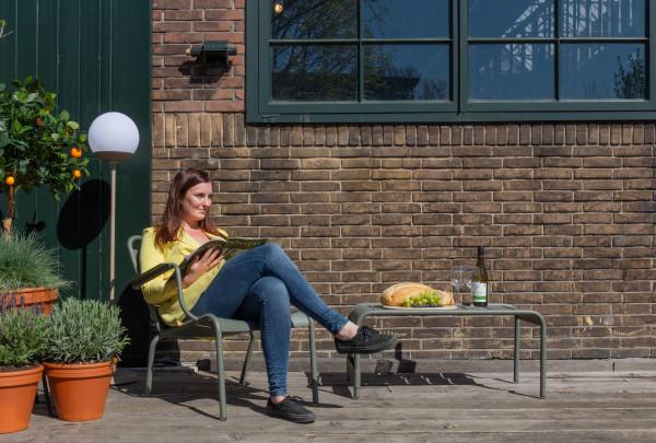 Fermob Luxembourg fauteuils + voetenbank