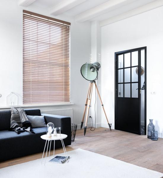 Flinders Ayous houten jaloezie mahonie bruin