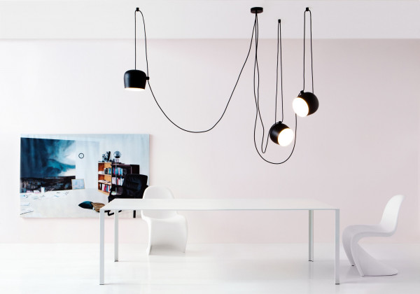 Flos Aim hanglamp set van 3 LED wit