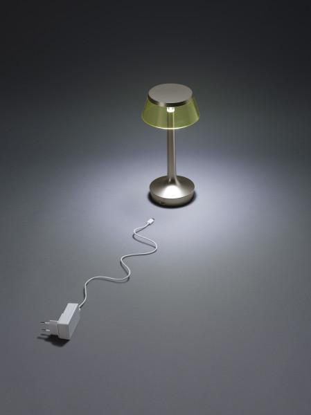 Flos Bon Jour Unplugged tafellamp LED satijn