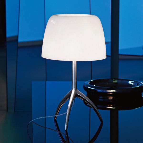 Foscarini Lumiere Grande tafellamp met dimmer en aluminium onderstel
