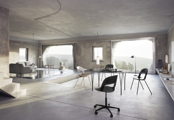 Fritz Hansen BH25 Pair Chair bureaustoel