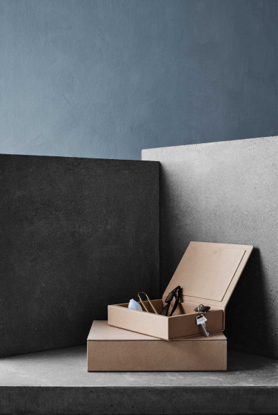Fritz Hansen Leather opberger small