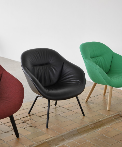 Hay AAL87 Soft Duo fauteuil remix 852, steelcut trio 195