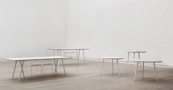 Hay Loop Stand tafel wit 250x93
