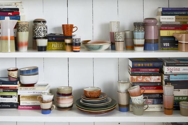 HKliving 70's Ceramic voorraadpot